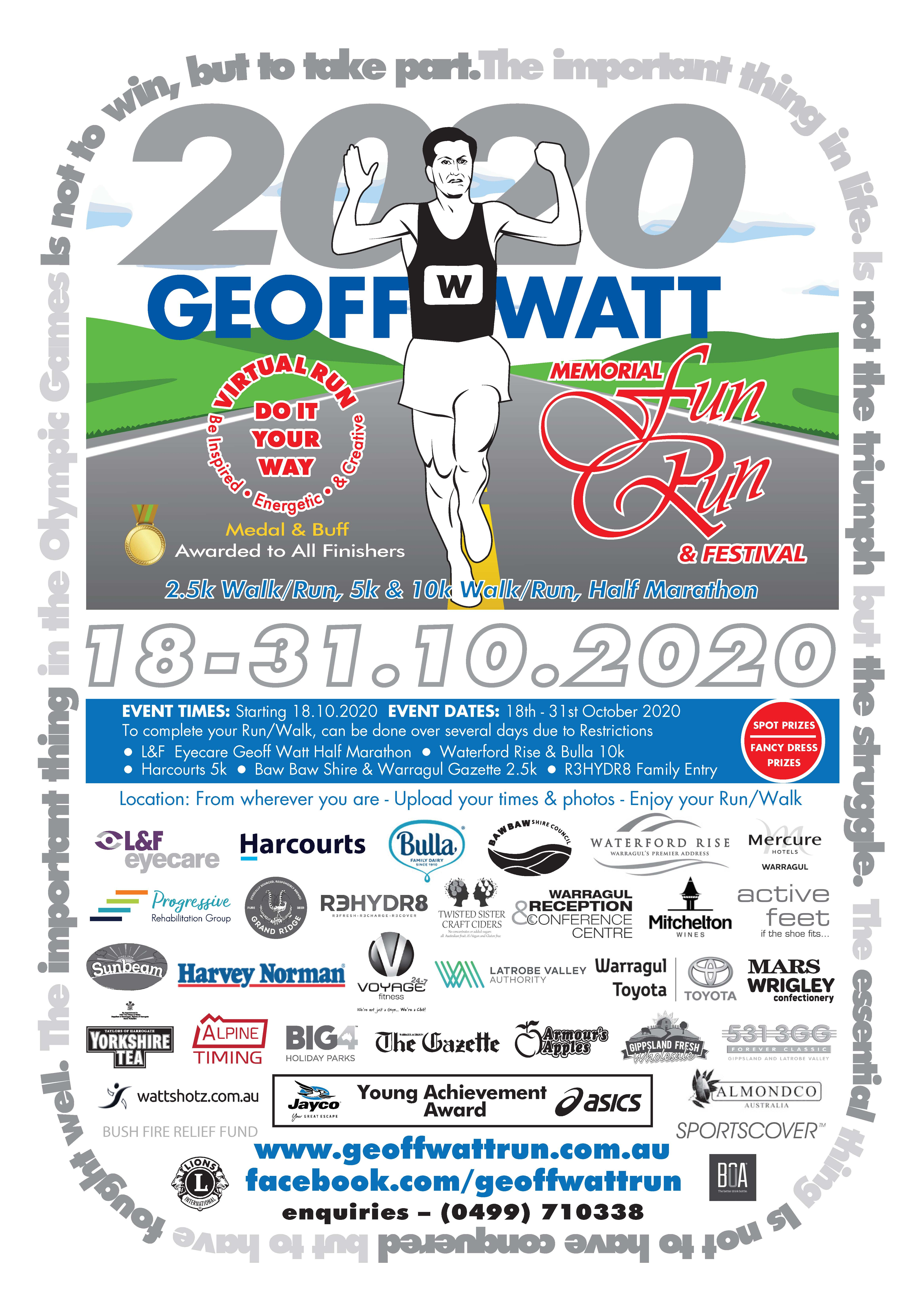 Geoff Watt Run Poster
